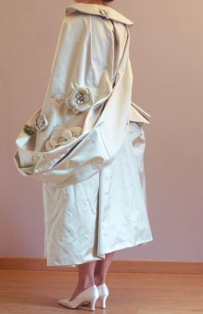 veste et jupe en cuir sur mesure Archives Fée au Château